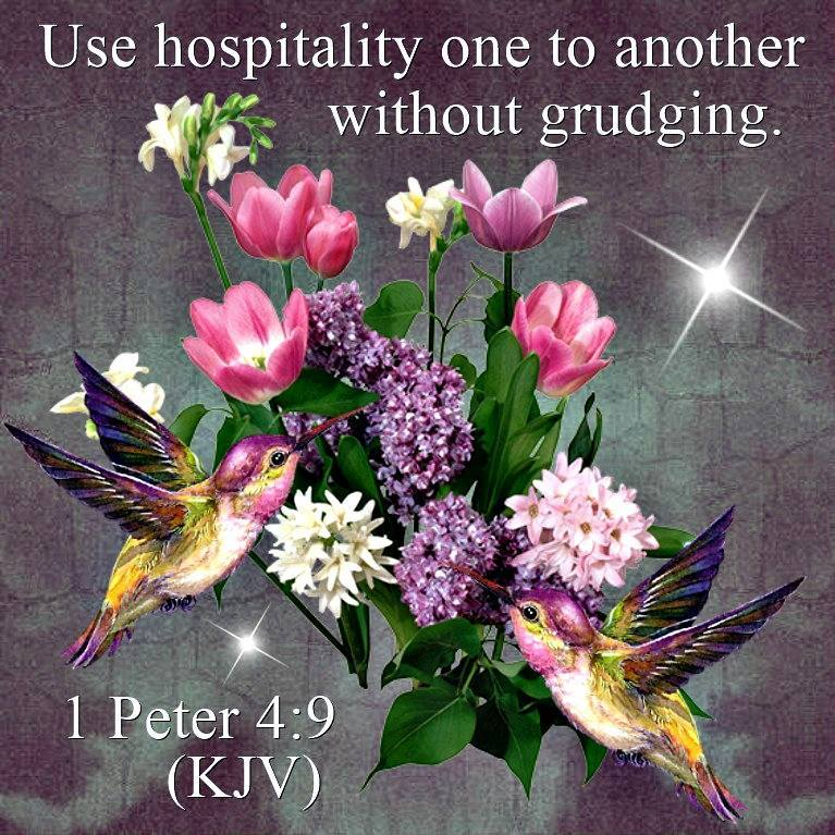 1 Peter 4 9 Kjv Use Hospitality One To Another Without
